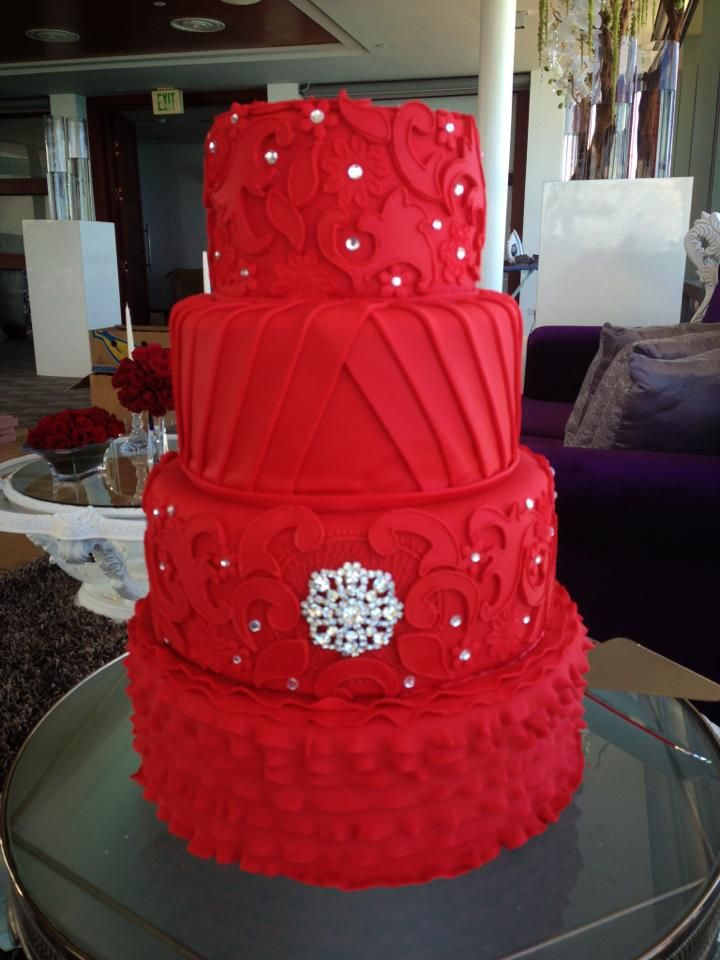 Images Of Red Cake : Bizcochos Vanessa Caro de Puerto Rico Wedding cakes and ...