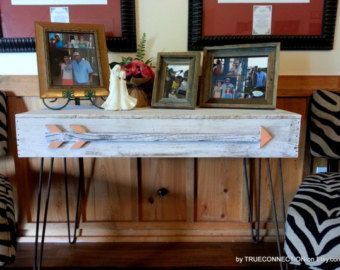 Skinny Console Table. Small Entry Table. Rustic by TRUECONNECTION