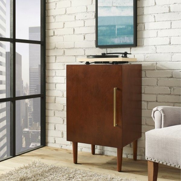 Crosley Everett Record Player Stand Mahogany Finish The classic mid-century modern design of Crosley's Everett Record Player Stand is the perfect compliment to your treasured turntable. The finished t                                                                                                                                                                                 More