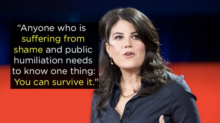 """The Price Of Shame"" — Monica Lewinsky 