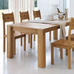 Elephant Oak Dining Table   Chunky, Solid Oak Dining Table By Portwood  Studio