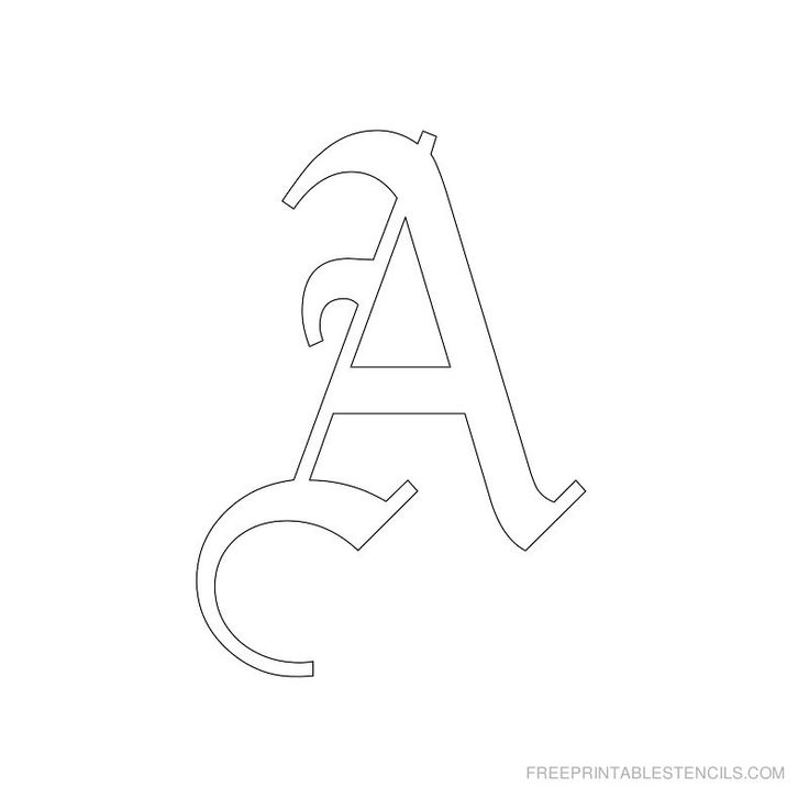 Printable Old English Letter Stencils | Free Printable Stencils