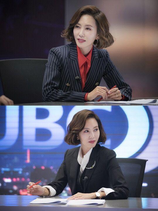 스퀘어 - 이번 드라마에서 뉴스 앵커 역할하는 김남주 포스