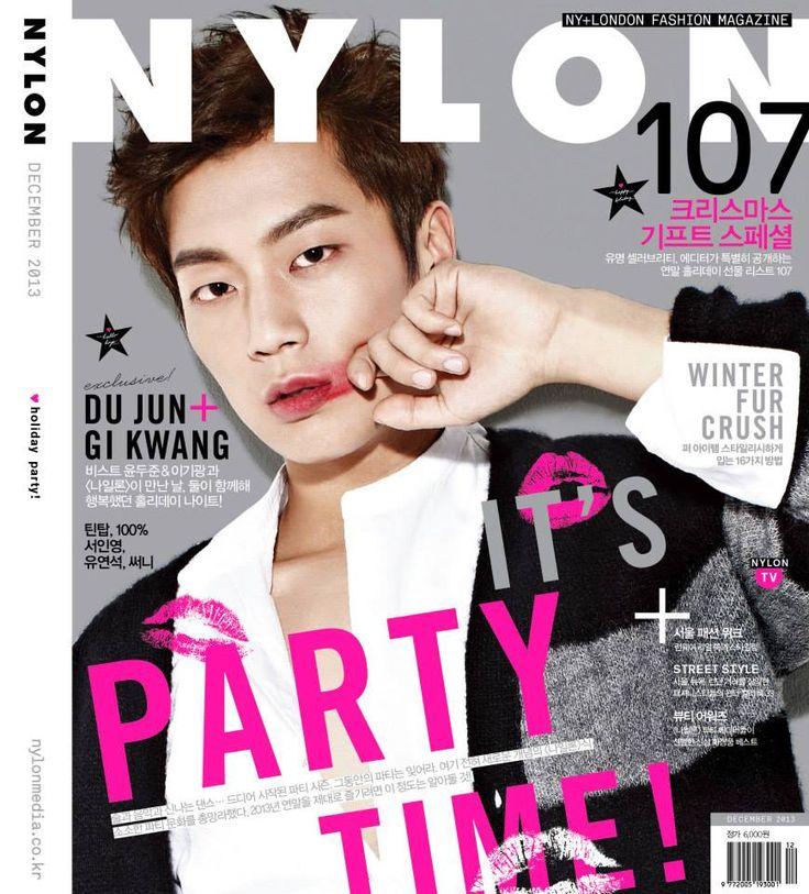 Korean Magazine Cover with K-pop Star