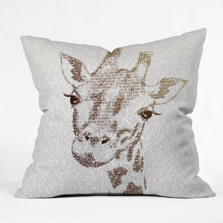 Belle13 The Intellectual Giraffe Outdoor Throw Pillow | DENY Designs Home Accessories