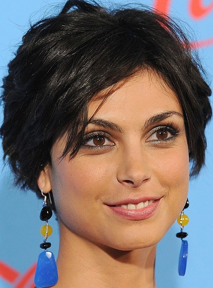 Morena Baccarin Layered Razor Cut Morena Baccarin wore her hair in shiny tousled layers at the UNICEF Playlist With the A-List event.