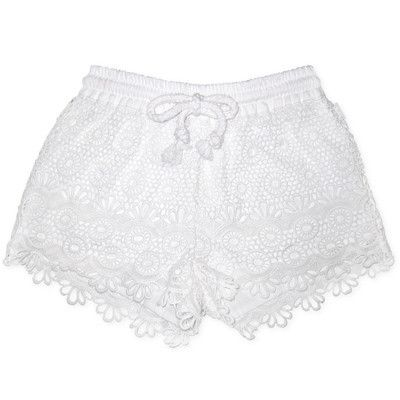Fred Bare Girls White Crochet Shorts