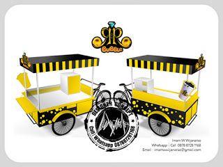 Desain Logo | Logo Kuliner |  Desain Gerobak | Jasa Desain dan Produksi Gerobak | Branding: Desain Gerobak Sepeda Bubble Drink