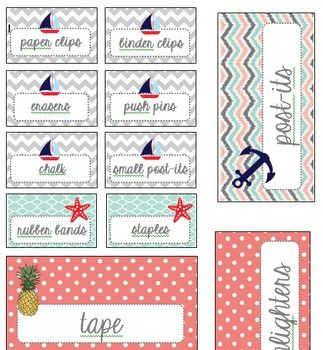 If you bought that toolbox from Home Depot you're in luck! Here are some free labels to cut out and tape inside the drawer fronts. Enjoy!Original Free Labels from Amanda Hoffman: https://www.teacherspayteachers.com/Product/Editable-Teacher-Toolbox-Labels-Coral-and-Mint-1307856