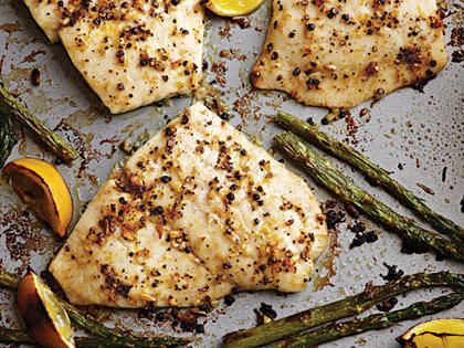 Baked Lemon Pepper Flounder This recipe was SUPER simple, and SUPER delicious. My family loved it, and Dad even went back for seconds. I added a bit of extra garlic, and would definitely make it again!