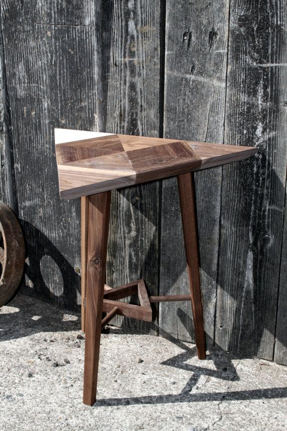 Triangle side table by Narwhalmfg on Etsy