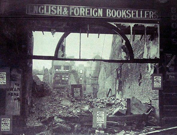 Independent bookshop on Church Street, May 6, 1941. :(
