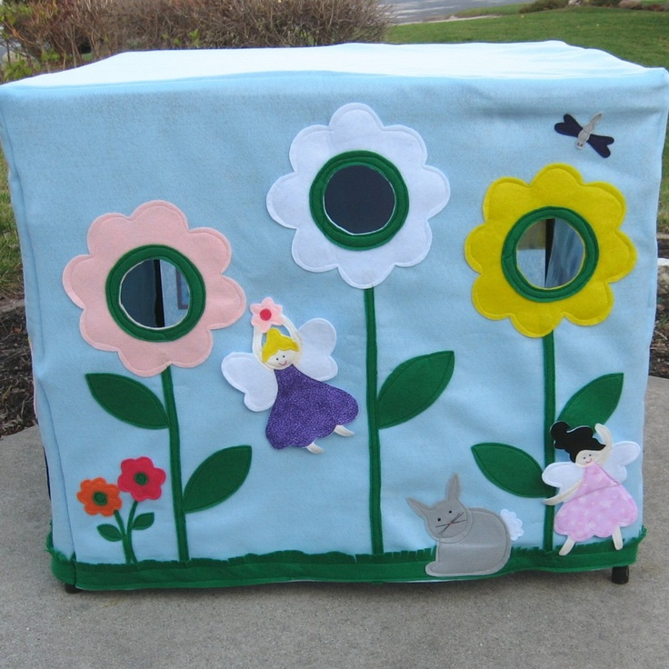 The Fairy's Tea Party, Card Table Playhouse, Personalized, Custom Order. $255,00, via Etsy.
