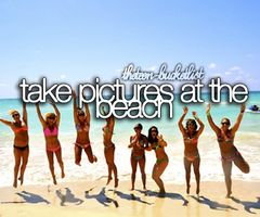 The Teen Bucket List | Take pictures at the beach.