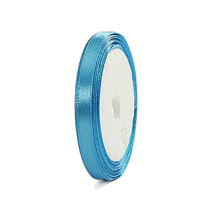 Satin Ribbons 6mm Aqua 10mtr