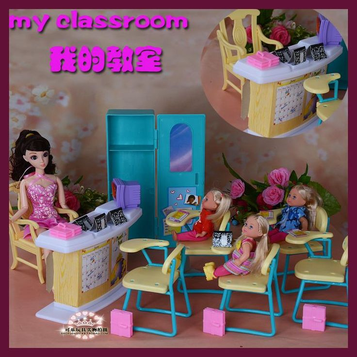 Miniature Kindergarten classroom set for barbie 1/6