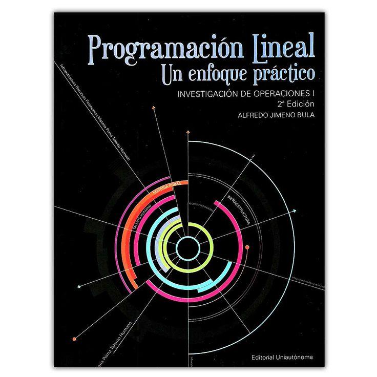 Programación lineal. Un enfoque práctico. Investigación de operaciones I – Alfredo Jimeno Bula - Universidad Autónoma del Caribe  http://www.librosyeditores.com/tiendalemoine/4284-programacion-lineal-un-enfoque-practico-investigacion-de-operaciones-i-9789583396953.html  Editores y distribuidores
