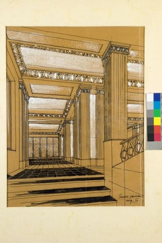 Architectural drawings of the Mezzanine area.