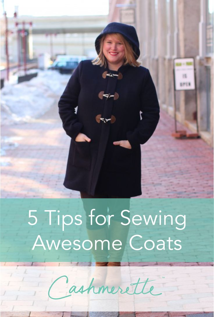 Helpful advice on sewing professional-looking coats