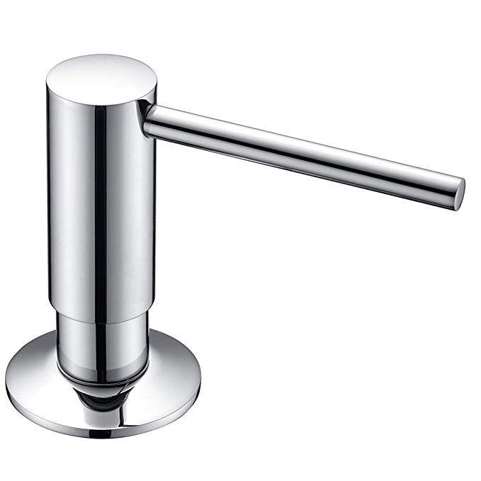 Sucasa Modern Design Chrome Finished Brass Pump Head Built In Kitchen Sink Soap And Lotion Dispenser Revie Bathroom Countertops Lotion Dispenser Soap Dispenser