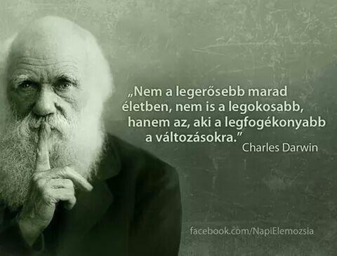 Charles Darwin idézet