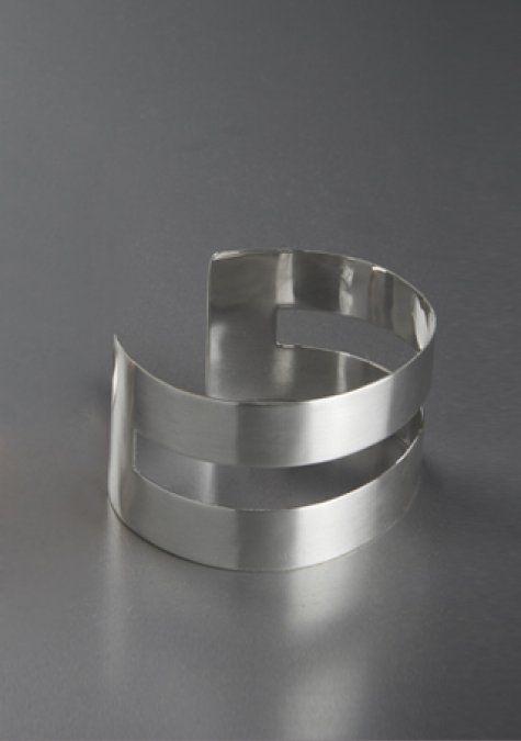 band silver bracelet - modern and elegant silver bracelet