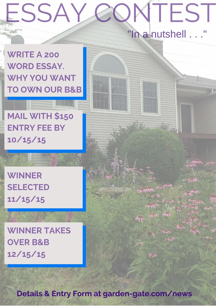 Own A Holmes County Ohio Bed And Breakfast For A Winning Essay Plus A $150  Entry