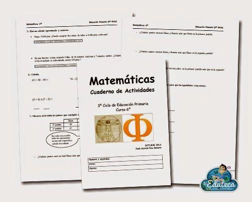 RECURSOS PRIMARIA | Cuadernillo de actividades de Matemáticas para 6º de Primaria