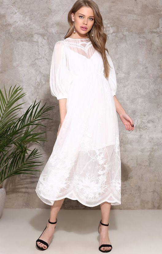 Платье двух длин с вышивкой Miss & Coco / 2000001008843-0
