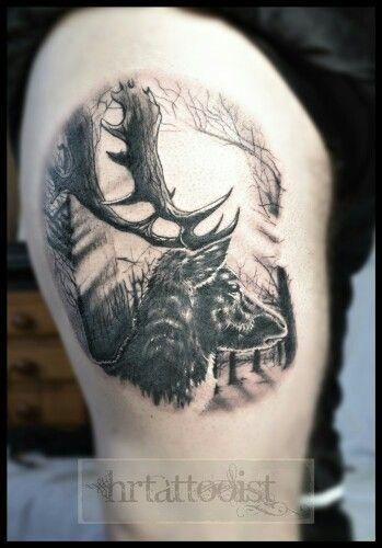 Deer tattoo #deertattoo #realisticdeertattoo