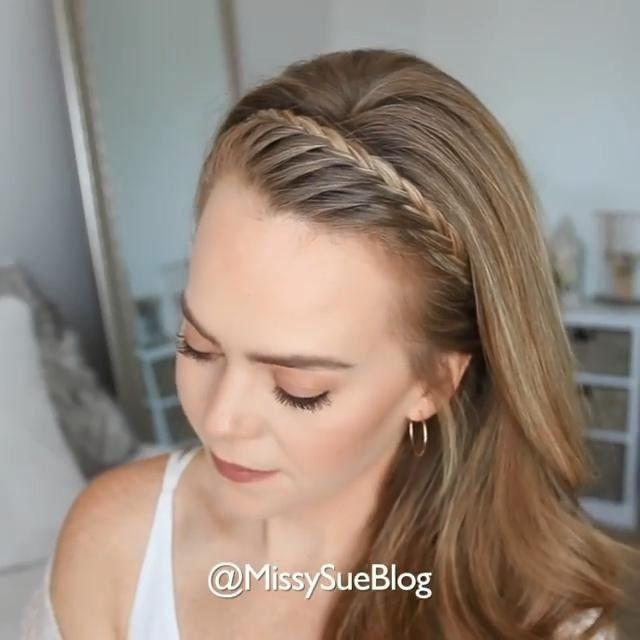 Super Easy Braid Tutorial In 2020 Braided Hairstyles Easy Easy Hairstyle Video Easy Hairstyles