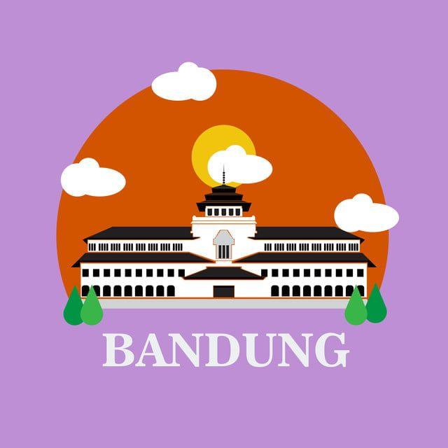 Bandung Landmark Icon West Java Indonesia Landscape Bandung City Historical Building Png And Vector With Transparent Background For Free Download Bandung City West Java Bandung