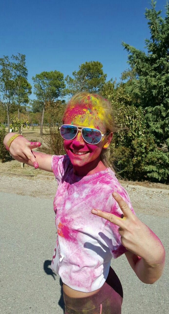 Peace, color sky 5k İzmir, pink, yellow, blue, white, green, colors, happy, face, smile, colorfull...