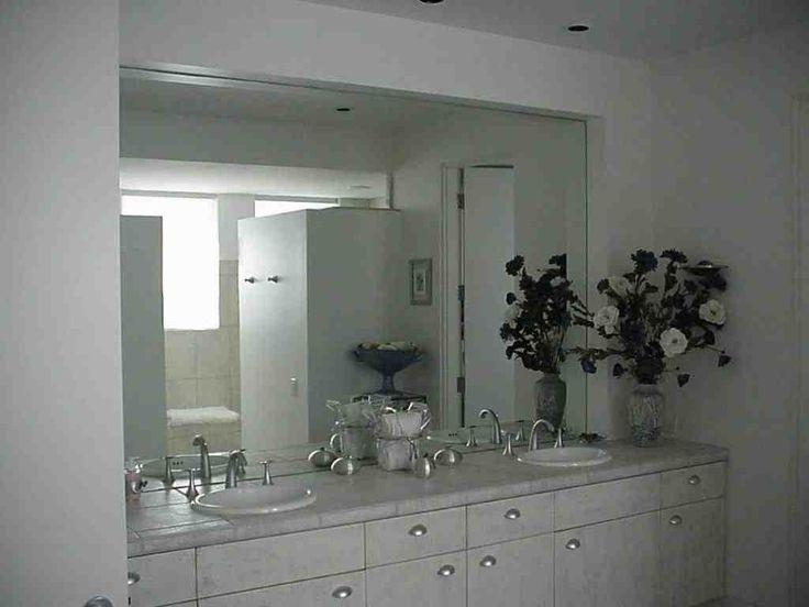 Large Frameless Bathroom Mirrors