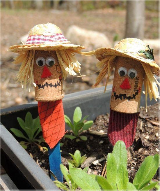ideas para hacer #espantapájaros con los niños #DIY