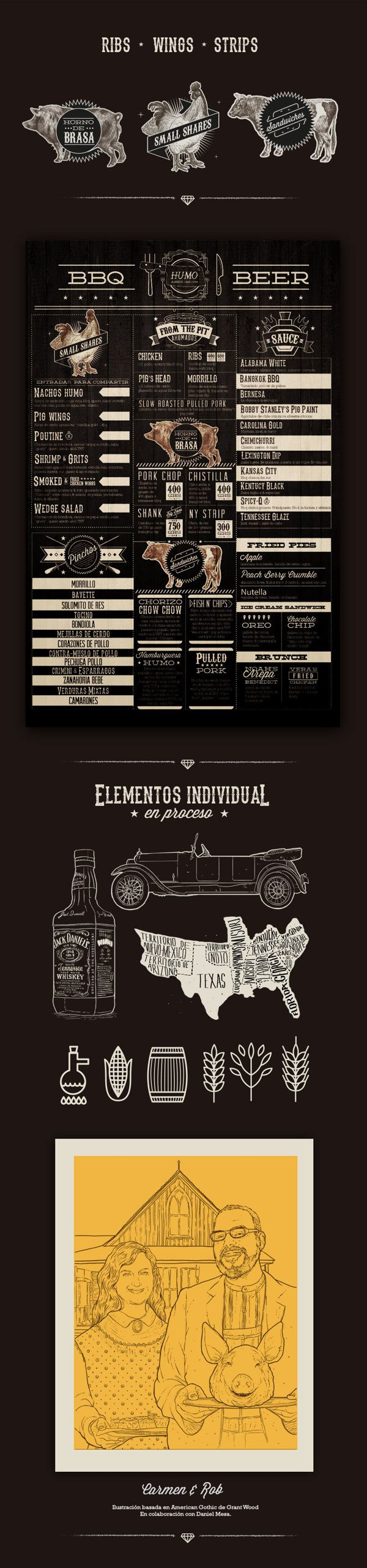 pinterest.com/fra411 #visual #identity - Southern BBQ / Mateo Rios