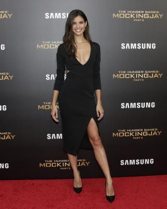 Sara Sampaio arrives on the red carpet at 'The Hunger Games: Mockingjay- Part 2' New York Premiere at AMC Loews Lincoln Square 13 Theater on November 18, 2015 in New York City. Photo by John Angelillo/UPI |
