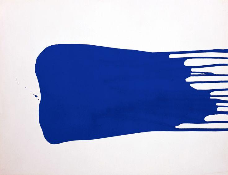 Yves Klein - Monochrome bleu sans titre (IKB 27), ca. 1957, 50 x 66 cm.