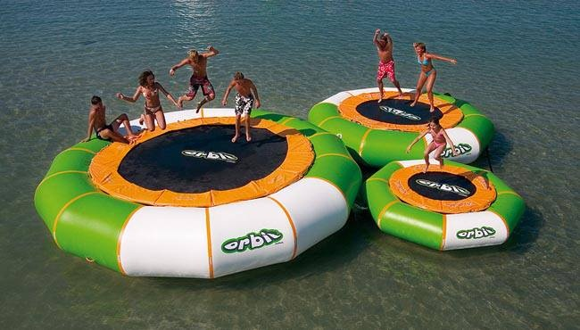 Awesome Orbit trampoline ==> http://www.lovedesigncreate.com/aviva-20-orbit-inflatable-floating-trampoline/
