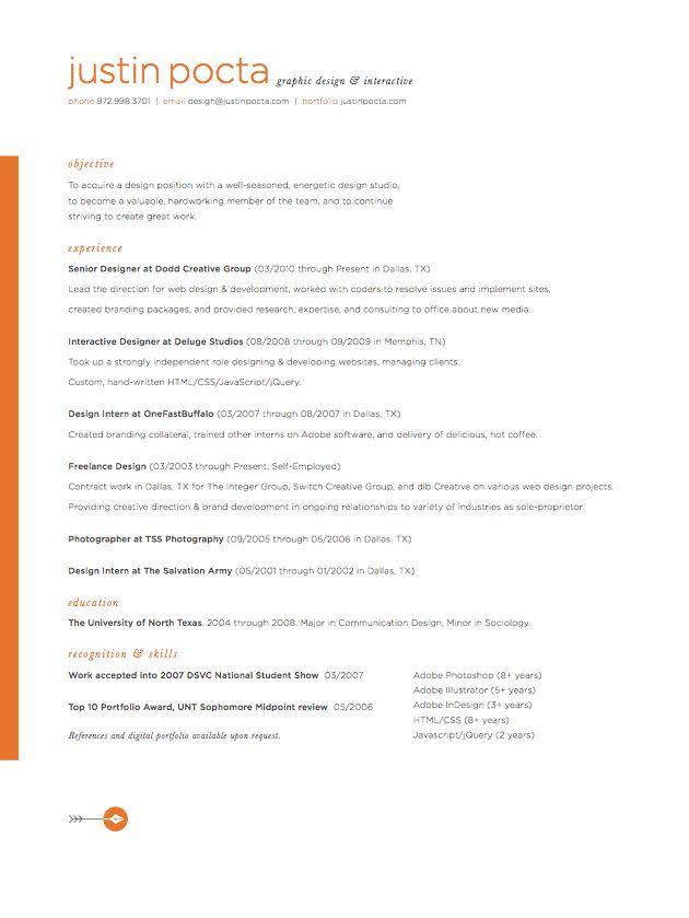 Good Graphic U0026 Interactive Designer Resume