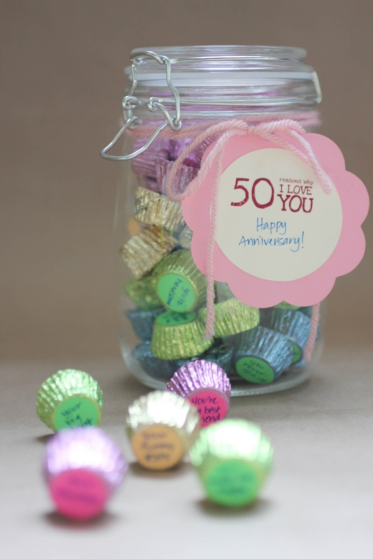 "Repeat Crafter Me: ""50 Reasons Why I love You"" Candy Jar Gift: 50 Reasons, Jar Gifts, Gifts Ideas, I Love You, Valentine'S S, Candy Jars, Repeat Crafter Me, Jars Gifts, Birthday Ideas"