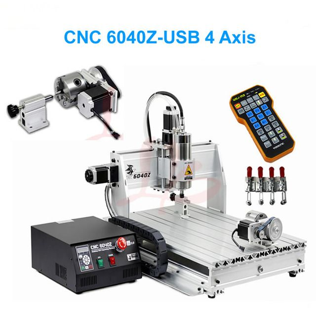 4 Axes Mini-Routeur CNC 6040 avec USB Port Fin de Course Axe Rotatif CNC Métal Machine De Gravure avec CNC Contrôleur