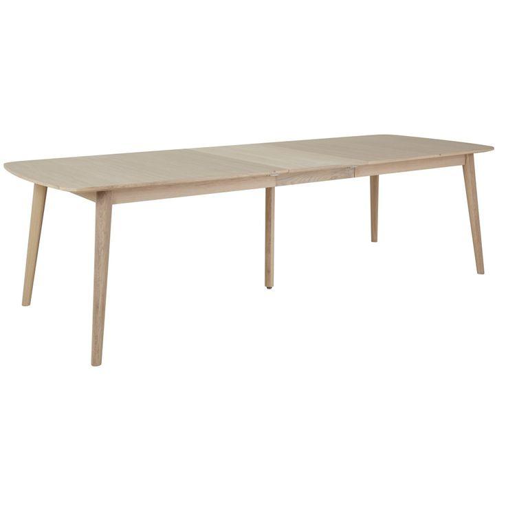Köp - 8995kr! Nordli Matbord 220-270 cm - Vitoljad ek. Vår serie Nordli är en välbyggd och genomtänkt serie av