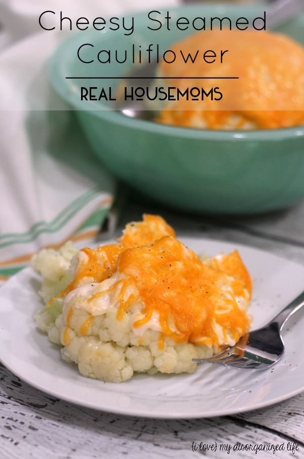 Easy to make and deliciously tangy, this cheesy steamed cauliflower makes a perfect side dish!