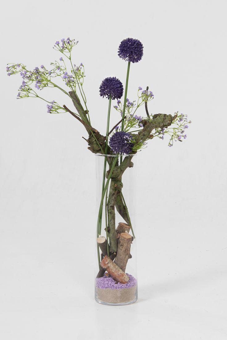 Decoratie met takken en zijde bloemen alle decoratie for Bloemen decoratie