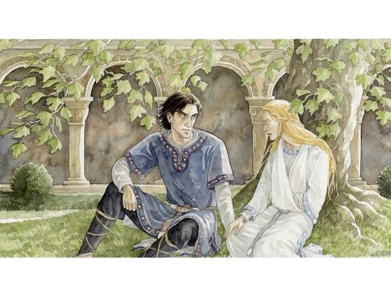 In the Houses of Healing by Anke-Katrin Eiszmann. This is similar to how I pictured Faramir.