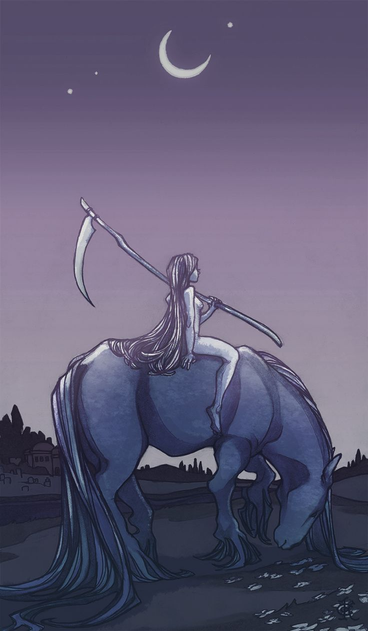 Lady Death Returns At Dawn, Graphite & Digital Media, 7″ X 12″