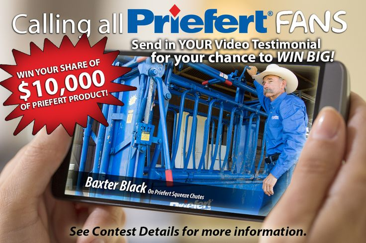 ENTER TO WIN!!! See Priefert.com or Priefert Ranch Equipment Facebook for more details