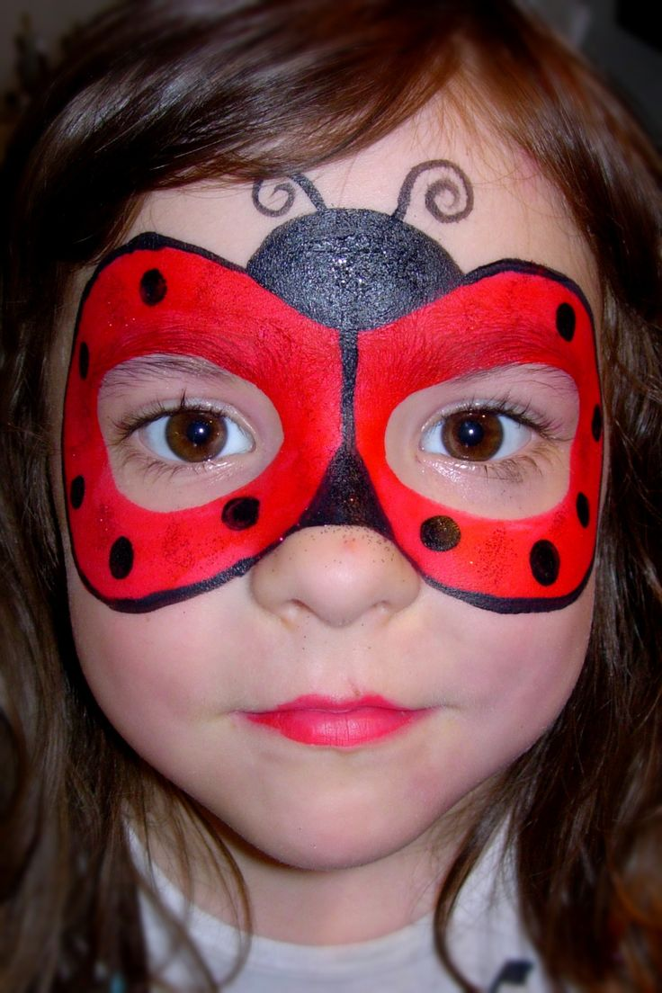 lady bug mask smiley faces by jo face painting pinterest kinderschminken kinder. Black Bedroom Furniture Sets. Home Design Ideas