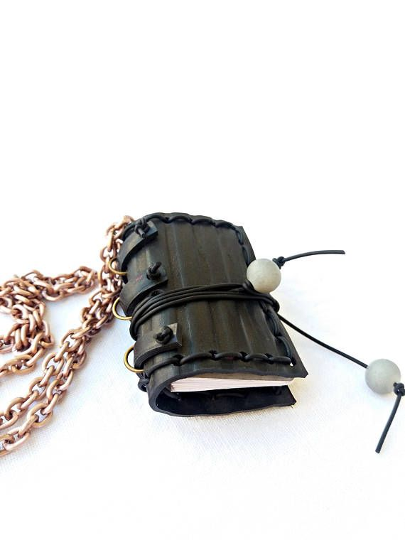 inner tube book necklace bookworm pendant upcycled